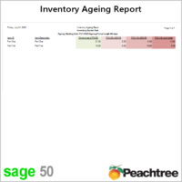 Sage 50 Inventory Ageing Report with Time Frame