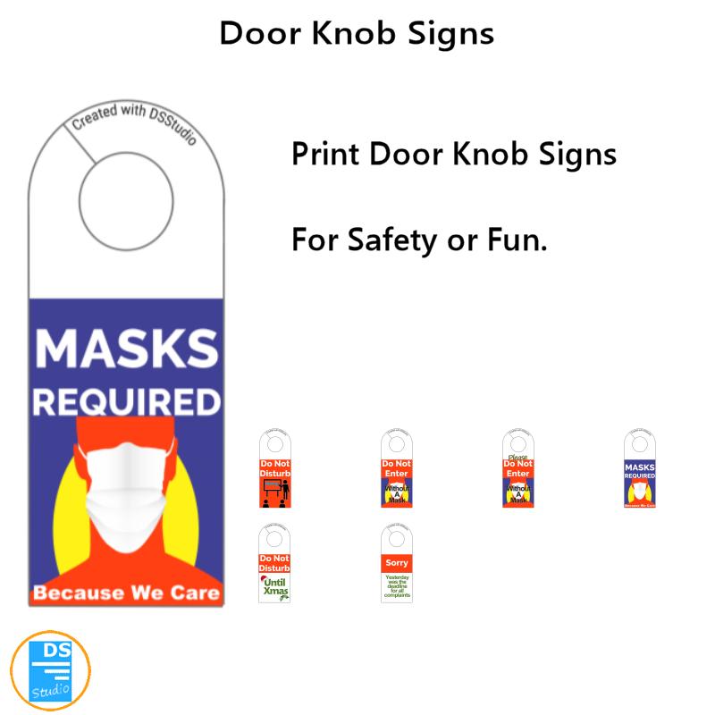 Doorknob Signs Volume 1