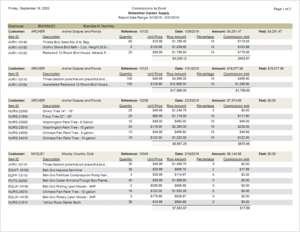 Sage 50 Sales Commission Report With Excel_Sample1