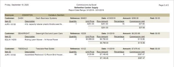 Sage 50 Sales Commission Report With Excel_Sample2