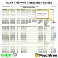 Sage 50 Audit Trail with Transaction Details Report