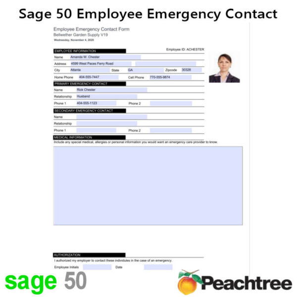 Sage 50 Employee Emergency Contact Form